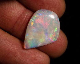 6.90 carat Mintabie crystal opal super hot pink fire