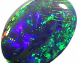 BLACK OPAL FROM DOWN UNDER AUSTRALIA 1.05 CTS BRIGHT FIRE A1968