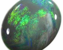 2.70 CTS BEAUTIFUL CABOCHON CUT GREEN STONE  TOUCH AQUA BLUE A317