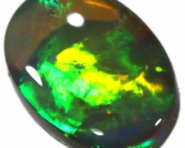 ** MAGICAL COLOUR DISPLAY SOLID CUT CRYSTAL BLACK OPAL A192
