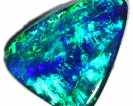 BLACK OPAL FROM DOWN UNDER AUSTRALIA TRIAGNE CUT GEMMY STONE A2075