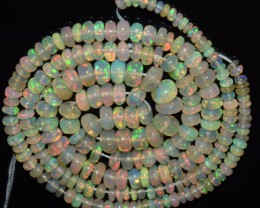 36.60 Ct Natural Ethiopian Welo Opal Beads Play Of Color OA1