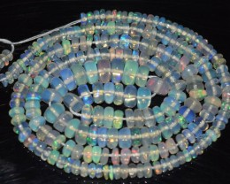31.95 Ct Natural Ethiopian Welo Opal Beads Play Of Color OA4