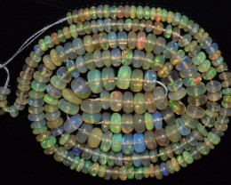 38.15 Ct Natural Ethiopian Welo Opal Beads Play Of Color OA5