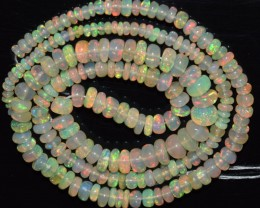 33.80 Ct Natural Ethiopian Welo Opal Beads Play Of Color OA6