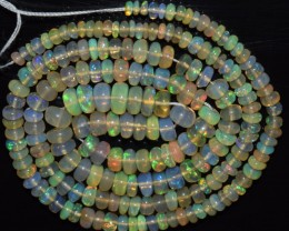 37.70 Ct Natural Ethiopian Welo Opal Beads Play Of Color OA10