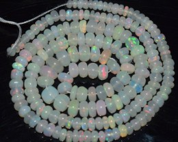 41.00 Ct Natural Ethiopian Welo Opal Beads Play Of Color OA11