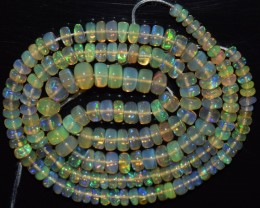44.10 Ct Natural Ethiopian Welo Opal Beads Play Of Color OA19