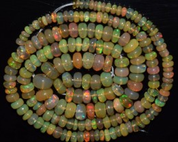 45.20 Ct Natural Ethiopian Welo Opal Beads Play Of Color OA21