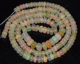 49.20 Ct Natural Ethiopian Welo Opal Beads Play Of Color OA25