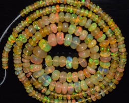 29.20 Ct Natural Ethiopian Welo Opal Beads Play Of Color OA27