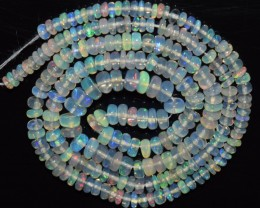 31.15 Ct Natural Ethiopian Welo Opal Beads Play Of Color OA28