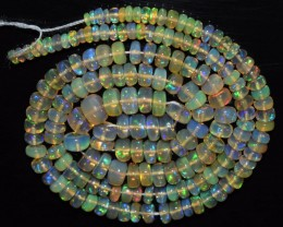 47.10 Ct Natural Ethiopian Welo Opal Beads Play Of Color OA31