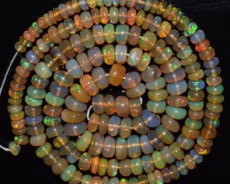 44.90 Ct Natural Ethiopian Welo Opal Beads Play Of Color OA33