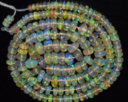 45.85 Ct Natural Ethiopian Welo Opal Beads Play Of Color OA35