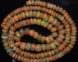 52.30 Ct Natural Ethiopian Welo Opal Beads Play Of Color OA46