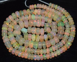 48.95 Ct Natural Ethiopian Welo Opal Beads Play Of Color OA52