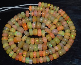 54.40 Ct Natural Ethiopian Welo Opal Beads Play Of Color OA53