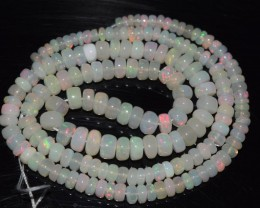 43.40 Ct Natural Ethiopian Welo Opal Beads Play Of Color OA65