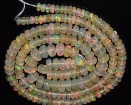 40.55 Ct Natural Ethiopian Welo Opal Beads Play Of Color OA67