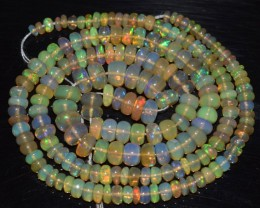 44.65 Ct Natural Ethiopian Welo Opal Beads Play Of Color OA71
