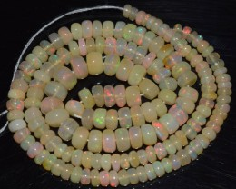 54.85 Ct Natural Ethiopian Welo Opal Beads Play Of Color OA72