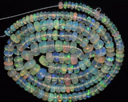42.85 Ct Natural Ethiopian Welo Opal Beads Play Of Color OA73