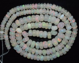 45.30 Ct Natural Ethiopian Welo Opal Beads Play Of Color OA74