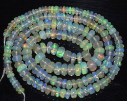 44.45 Ct Natural Ethiopian Welo Opal Beads Play Of Color OA75