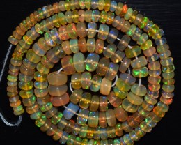 41.05 Ct Natural Ethiopian Welo Opal Beads Play Of Color OA78