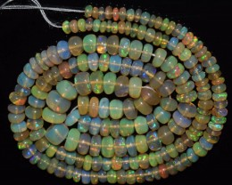 45.80 Ct Natural Ethiopian Welo Opal Beads Play Of Color OA79