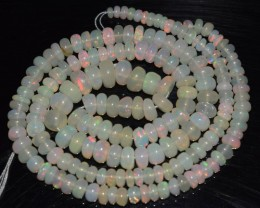 46.20 Ct Natural Ethiopian Welo Opal Beads Play Of Color OA80
