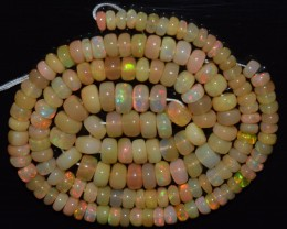 54.30 Ct Natural Ethiopian Welo Opal Beads Play Of Color OA81