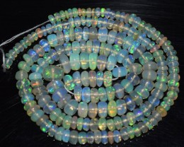 42.05 Ct Natural Ethiopian Welo Opal Beads Play Of Color OA84
