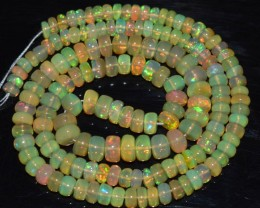 50.30 Ct Natural Ethiopian Welo Opal Beads Play Of Color OA88