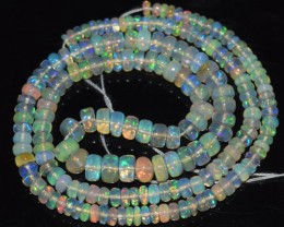 40.25 Ct Natural Ethiopian Welo Opal Beads Play Of Color OA90