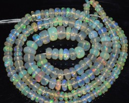 39.65 Ct Natural Ethiopian Welo Opal Beads Play Of Color OA92