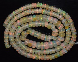 39.55 Ct Natural Ethiopian Welo Opal Beads Play Of Color OA93