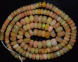 48.70 Ct Natural Ethiopian Welo Opal Beads Play Of Color OA97