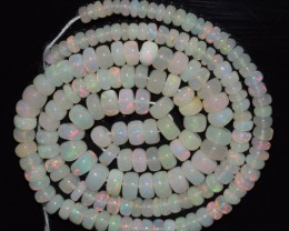 43.35 Ct Natural Ethiopian Welo Opal Beads Play Of Color OA99