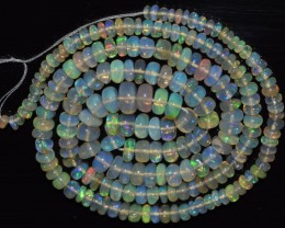 41.40 Ct Natural Ethiopian Welo Opal Beads Play Of Color OA100