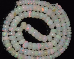 57.80 Ct Natural Ethiopian Welo Opal Beads Play Of Color OA104
