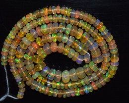 41.55 Ct Natural Ethiopian Welo Opal Beads Play Of Color OA106