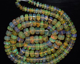 48.30 Ct Natural Ethiopian Welo Opal Beads Play Of Color OA110