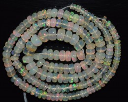 38.05 Ct Natural Ethiopian Welo Opal Beads Play Of Color OA118