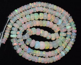 46.20 Ct Natural Ethiopian Welo Opal Beads Play Of Color OA121
