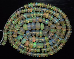38.95 Ct Natural Ethiopian Welo Opal Beads Play Of Color OA123