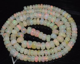 50.45 Ct Natural Ethiopian Welo Opal Beads Play Of Color OA124