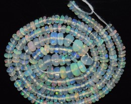 30.90 Ct Natural Ethiopian Welo Opal Beads Play Of Color OA125