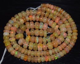 51.25 Ct Natural Ethiopian Welo Opal Beads Play Of Color OA126